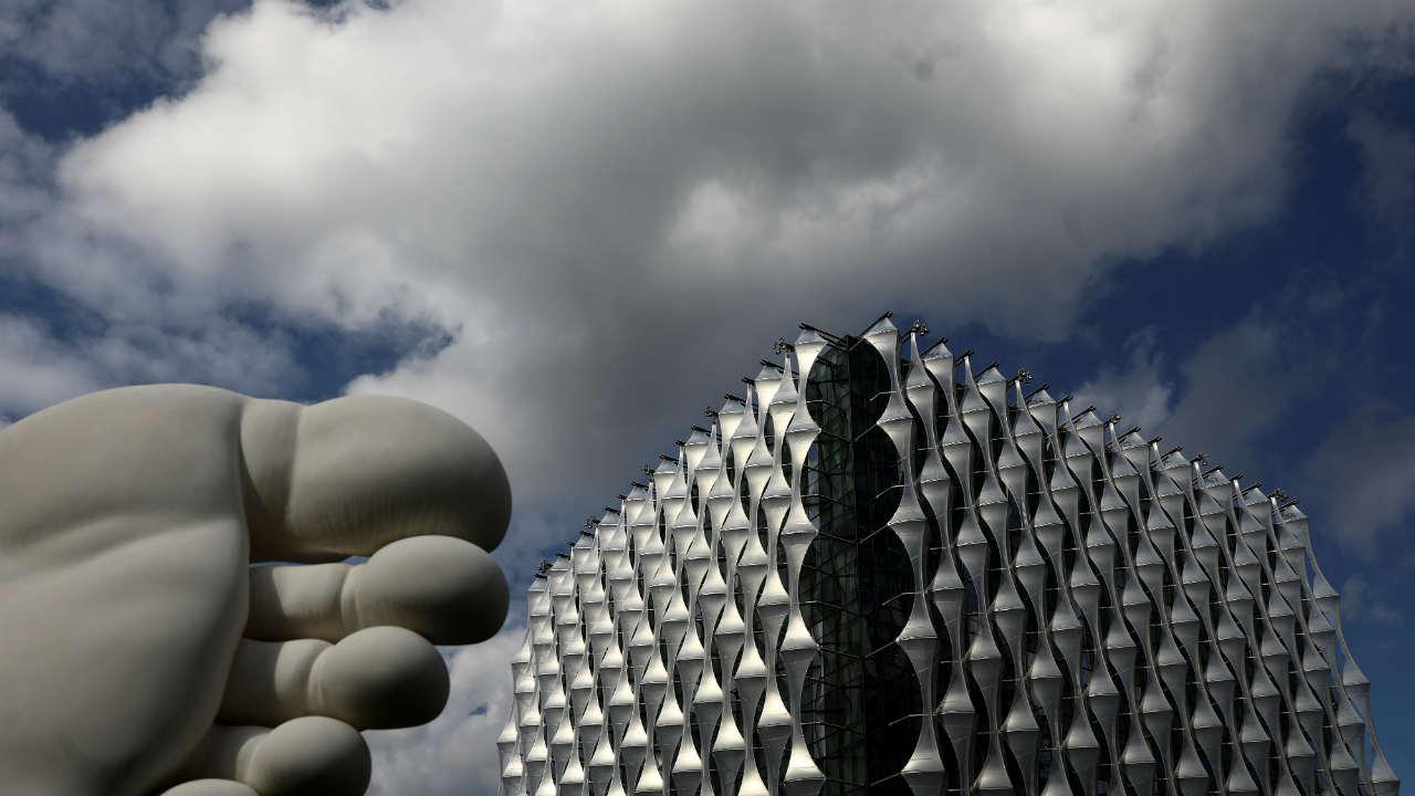 The U.S. Embassy stands in Nine Elms in London, Britain. (REUTERS)