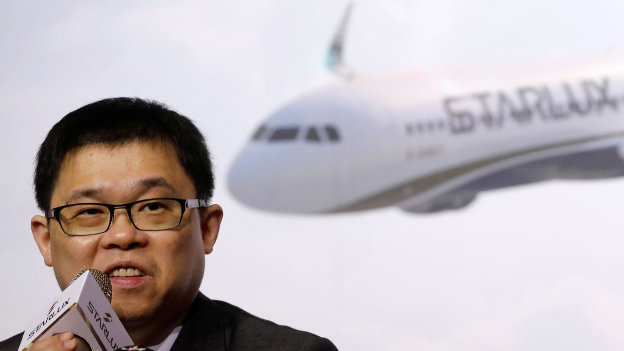 StarLux Airlines founder and former EVA Airways chairman Chang Kuo-wei attends a launching news conference in Taipei, Taiwan. (Reuters)