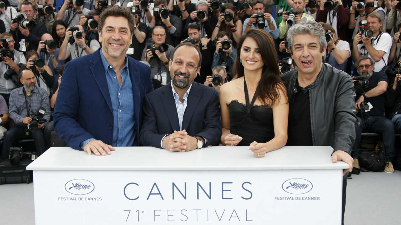 71st Cannes Film Festival | Director Asghar Farhadi, cast members Penelope Cruz, Javier Bardem, Ricardo Darin of 'Everybody Knows' at the photocall for the film. (Reuters)