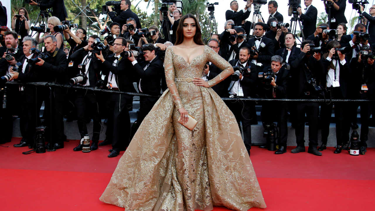 Sonam Kapoor | Anil Kapoor's daughter wore a lehenga for her pre-wedding ceremony, which was created by her favourite designers Abu Jani and Sandeep Khosla. It took almost 18 months to complete. The red lehnga choli that she wore on her wedding day was designed by Anuradha Vakil. Although, we can't put a number to the ensemble, it has been reported to be in the range of Rs 70 to Rs 90 lakh. (Image: Reuters)
