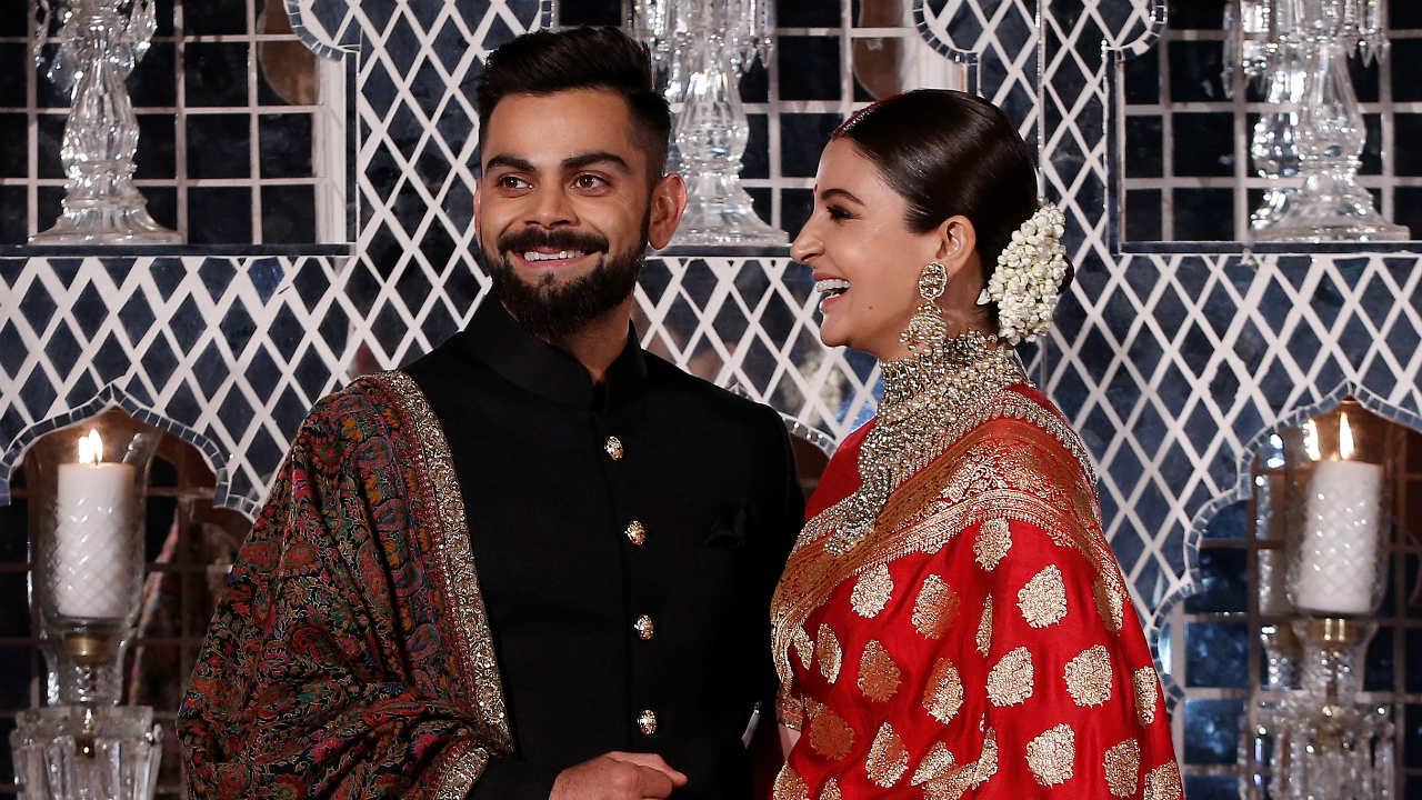 Anushka Sharma | On her wedding, the actress wore a Sabyasachi trousseau which took more than 32 days and 60 artisans to complete. For all wedding-related ceremonies, Virat Kohli and Anushka wore Sayasachi ensembles. The lehenga that she wore on her wedding cost anywhere between Rs 40 lakh to Rs 45 lakh. (Image: Reuters)