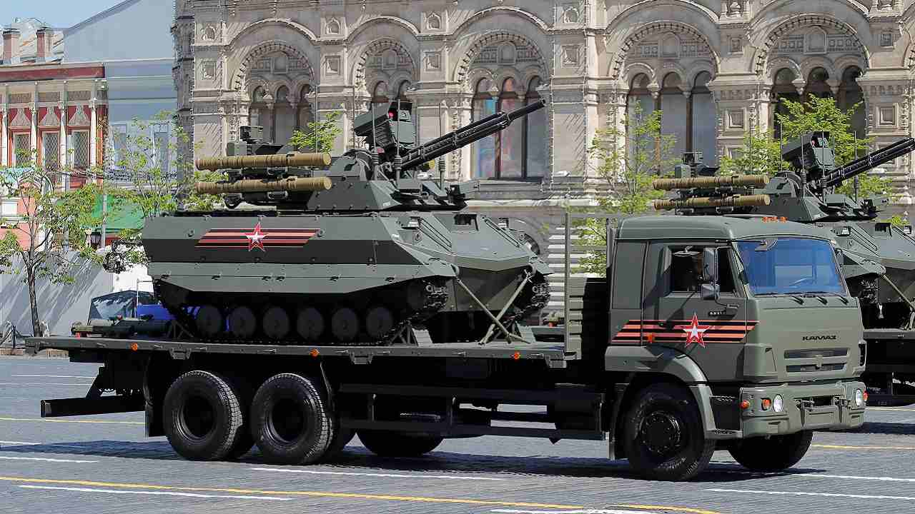 The World War II was the deadliest conflict in human history causing up to 85 million fatalities most of which were civilians in the Soviet Union and China. (In picture: A Russian Uran-9 unmanned armoured reconnaissance and infantry support vehicle in Moscow)