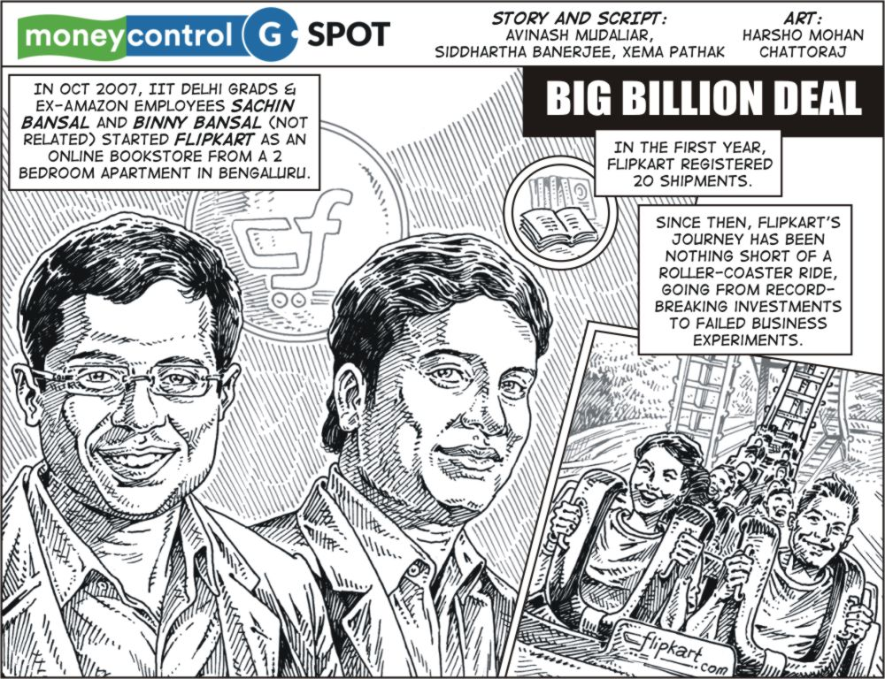Webcomic: How the big billion Flipkart-Walmart deal came to life
