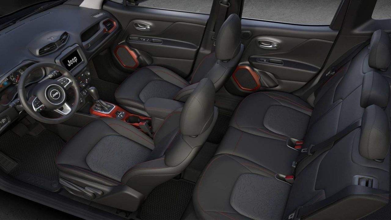 The interiors of the car incorporates red accents all around. (Image: Jeep)