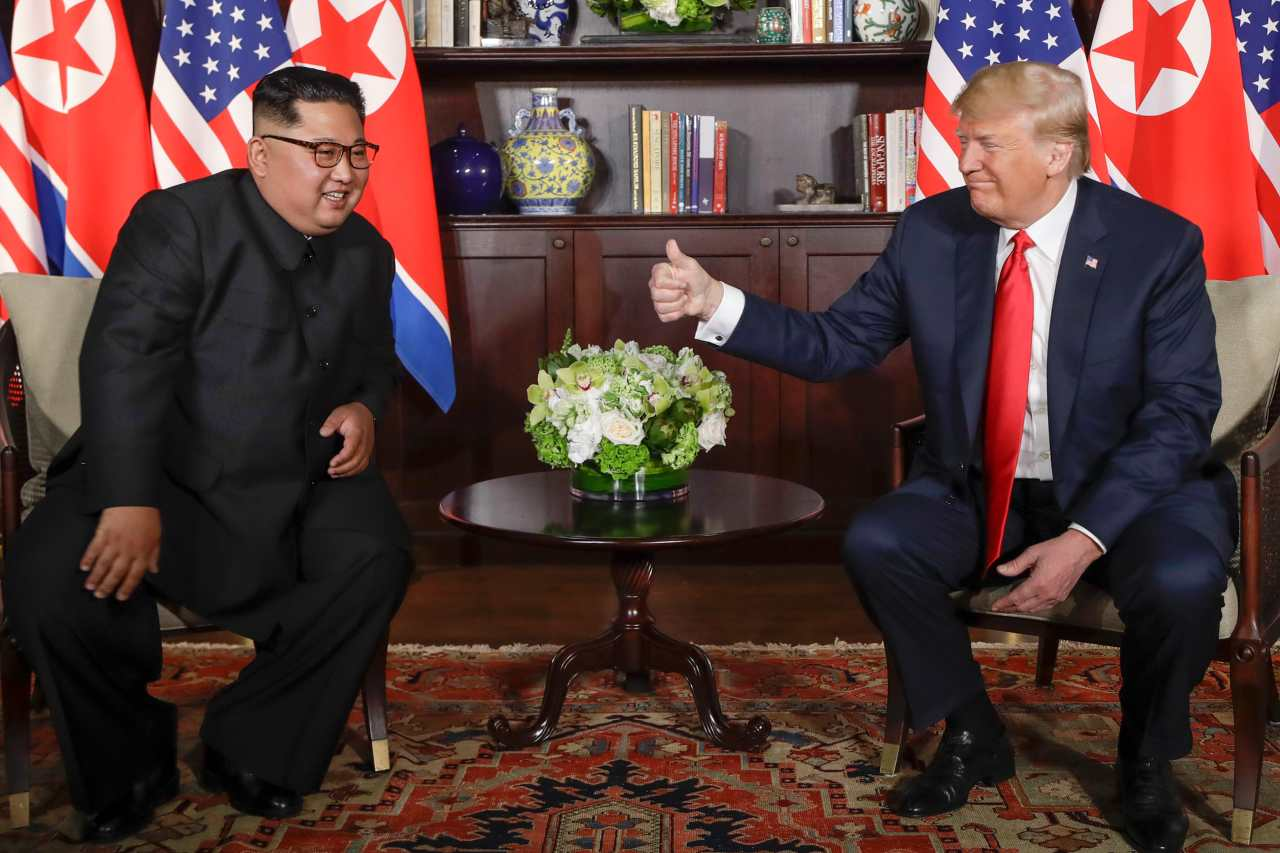 This is the first time a member of the Kim family has met a sitting President of the US. (Photo: AP)