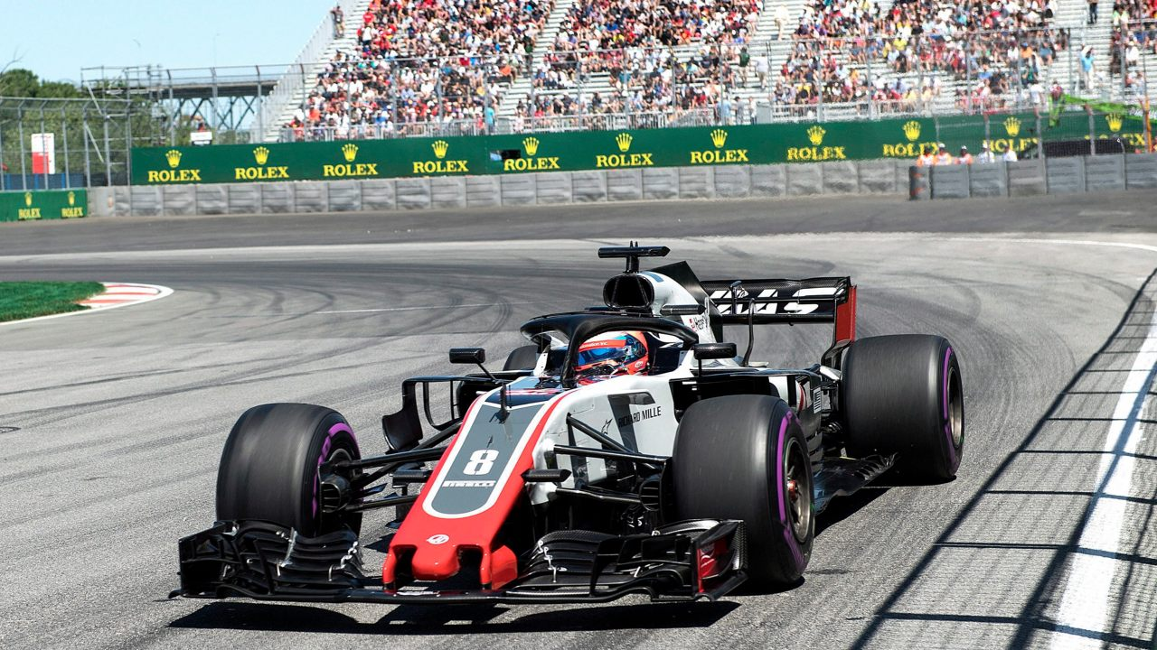 Haas driver Romain Grosjean of France takes a turn at the hairpin during the third practice session for the F1 Canadian Grand Prix auto race in Montreal. (Image: AP/ PTI)