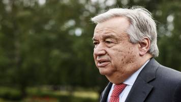 Two States only just solution for Israel-Palestine conflict: UN chief