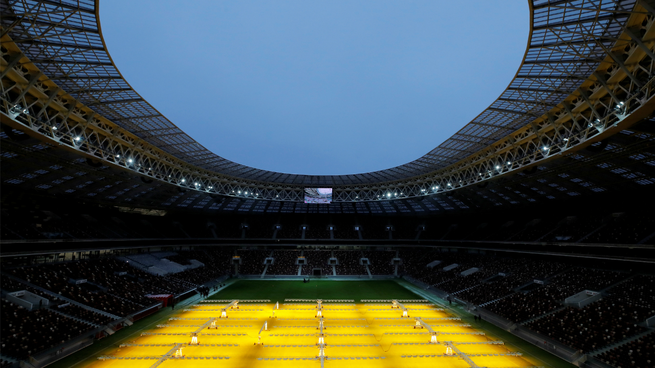 The FIFA World Cup 2018 opening ceremony will take place at 6.30 pm IST on June 14, at the Luzhniki Stadium in Moscow. The Luzhniki is Russia's national stadium with a capacity of 81,000. The opening game of the tournament will featuring Russia and Saudi Arabia, will kick off after the ceremony at 8.30 pm. (Image: Reuters)