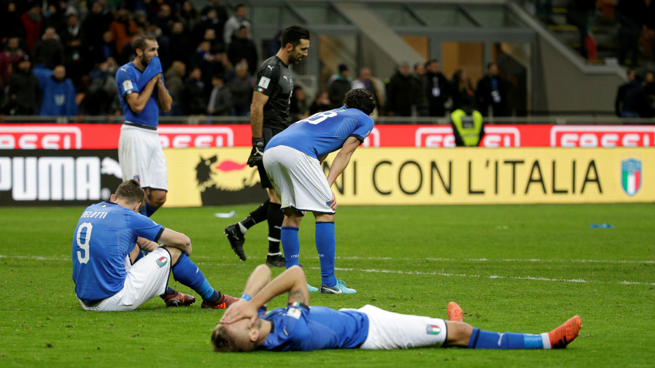 Italy | Four-time winners Italy finished second behind Spain in their qualification group and crashed out of the World Cup after failing to score against Sweden over two legs of the playoffs, going down 1-0 on aggregate. Their premature exit spelled an anticlimactic end to the career of keeper Gianluigi Buffon and Daniele De Rossi.