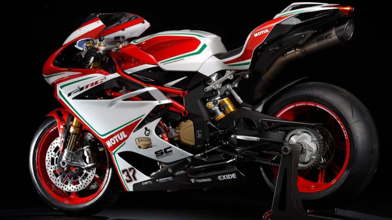 MV Agusta F4 RC | Price: Rs 50.10 lakh | Close on the heels of the Ducati Panigale Final Edition is the MV Augusta F4 RC. The F4 RC is the top spec variant of race series and has numbers that almost match the 1299 Panigale. A 998 cc engine churns out 212 HP at 13,000 rpm and 115 Nm of peak torque at 9,300 rpm. The curves on this bike is definitely an attention grabber when not slicing your way through the air on a race track. (Image: MV Augusta website)