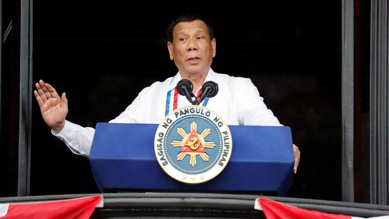 Philippine's President Rodrigo Duterte speaks during the 120th Philippine Independence day celebration at the Emilio Aguinaldo shrine in Kawit, Cavite Philippines. (Photo: Reuters)