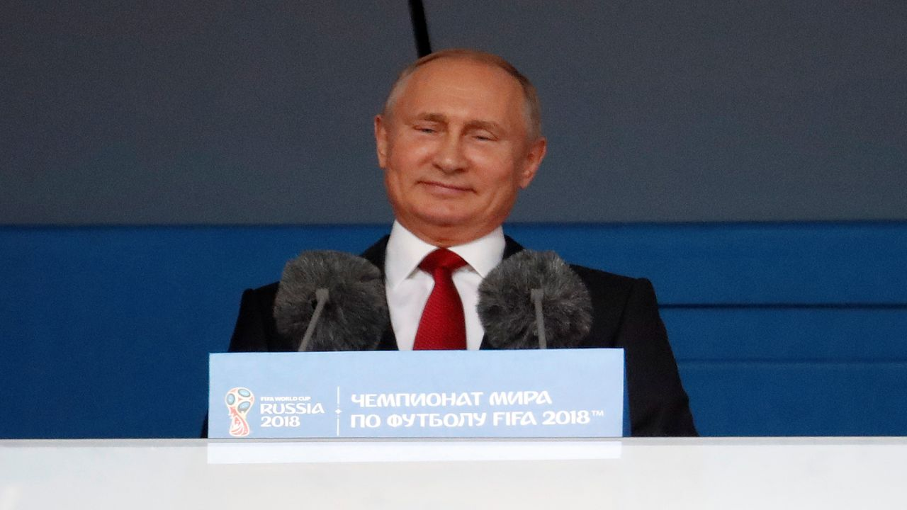 Russian President, Vladimir Putin speaks during the opening ceremony. (Image: Reuters)