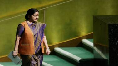 Swaraj leaves for 7-day tour of 4 European nations