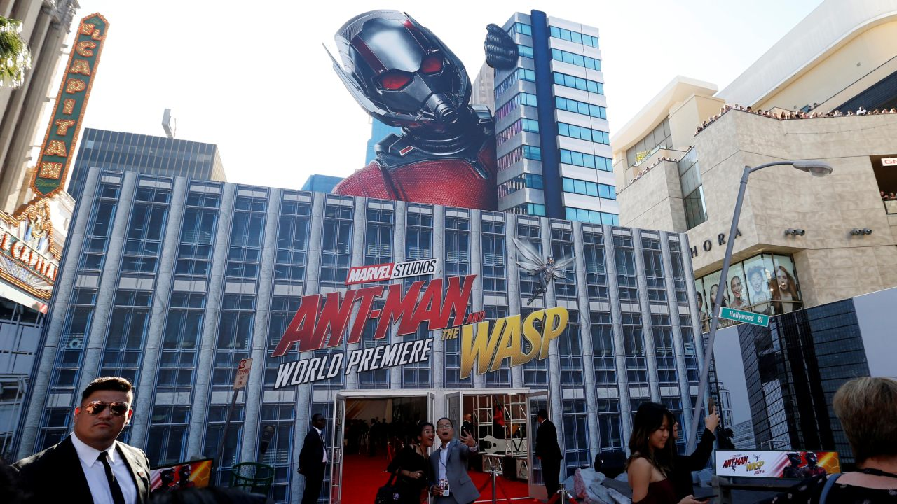 "People take a selfie at the premiere of the movie ""Ant-Man and the Wasp"" in Los Angeles, California, US. (Image: Reuters)"