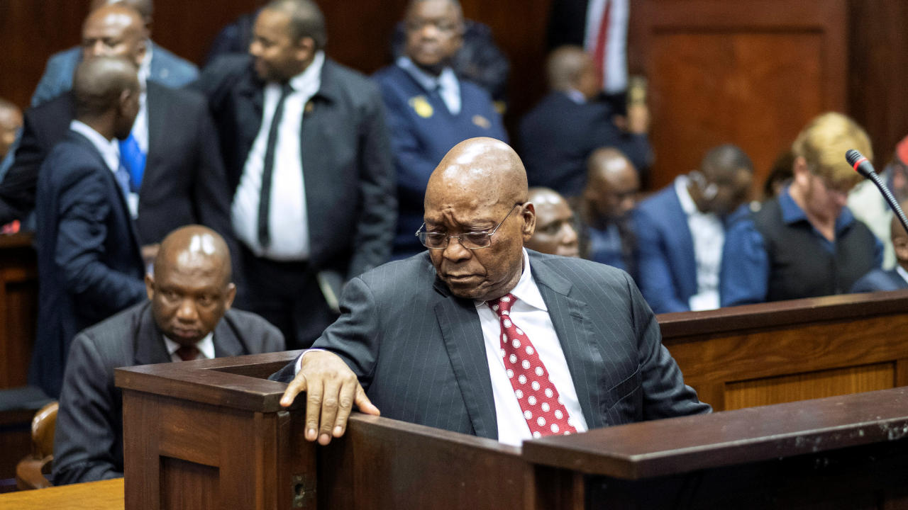 Former South African president Jacob Zuma appears in court in Durban, South Africa. (Image: Reuters)