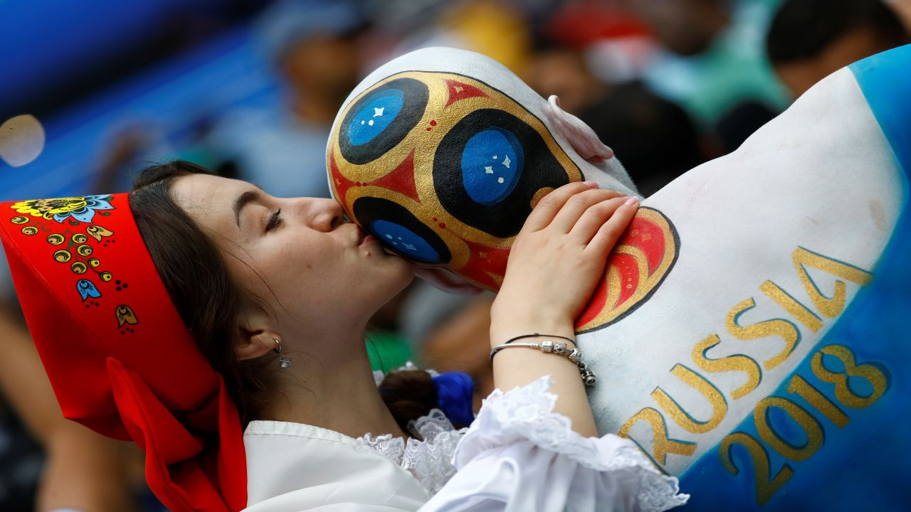 A Russian fan at the opening ceremony. (Image: Reuters)