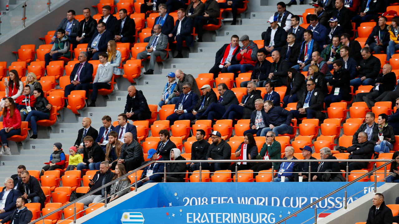 The probe was sparked after the official attendance for the Egypt vs Uruguay match was 27,015, much lower than the 32,278 tickets that were sold, FIFA has said. (Image: Reuters)