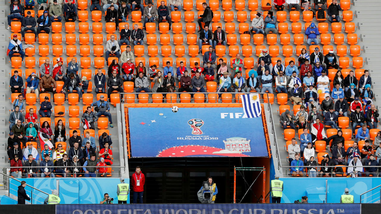 'No show' on match day by some could be one of the different factors on match day, FIFA has said while reports suggest some fans faced problems due to a complicated queuing system. (Image: Reuters)