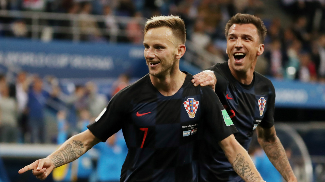 Ivan Rakitic | Rakitic is as influential for Croatia as Modric. In two starts, he made 107 passes, with a success rate of 81.3 percent, and bagged himself a goal against Argentina. The Barcelona man has been taken six shots on goal with two of them being on target. He is also the guy who brings steel to his side's mid-field. (Image: Reuters)