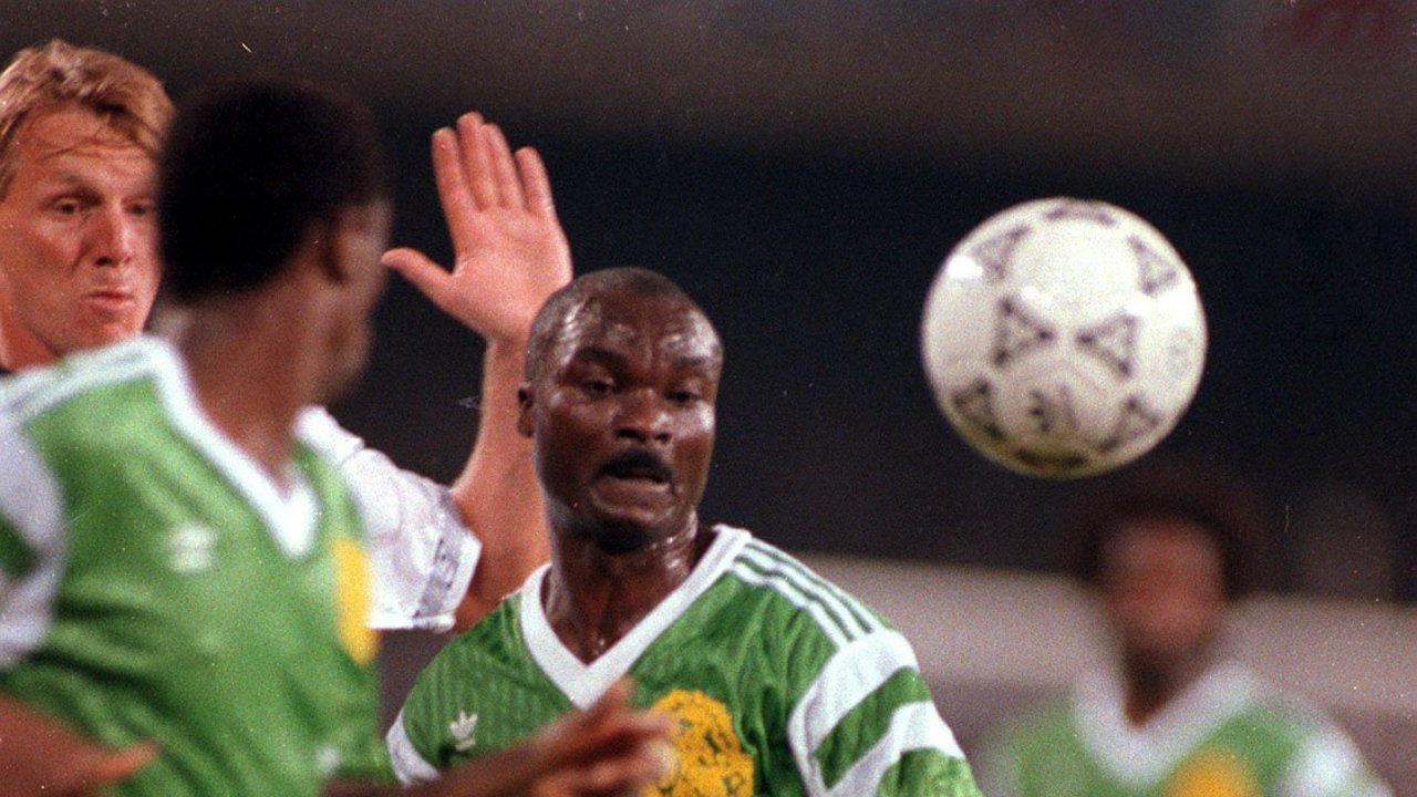 Roger Milla, who became the Oldest Player to score in a FIFA World Cup, at the age of 42.