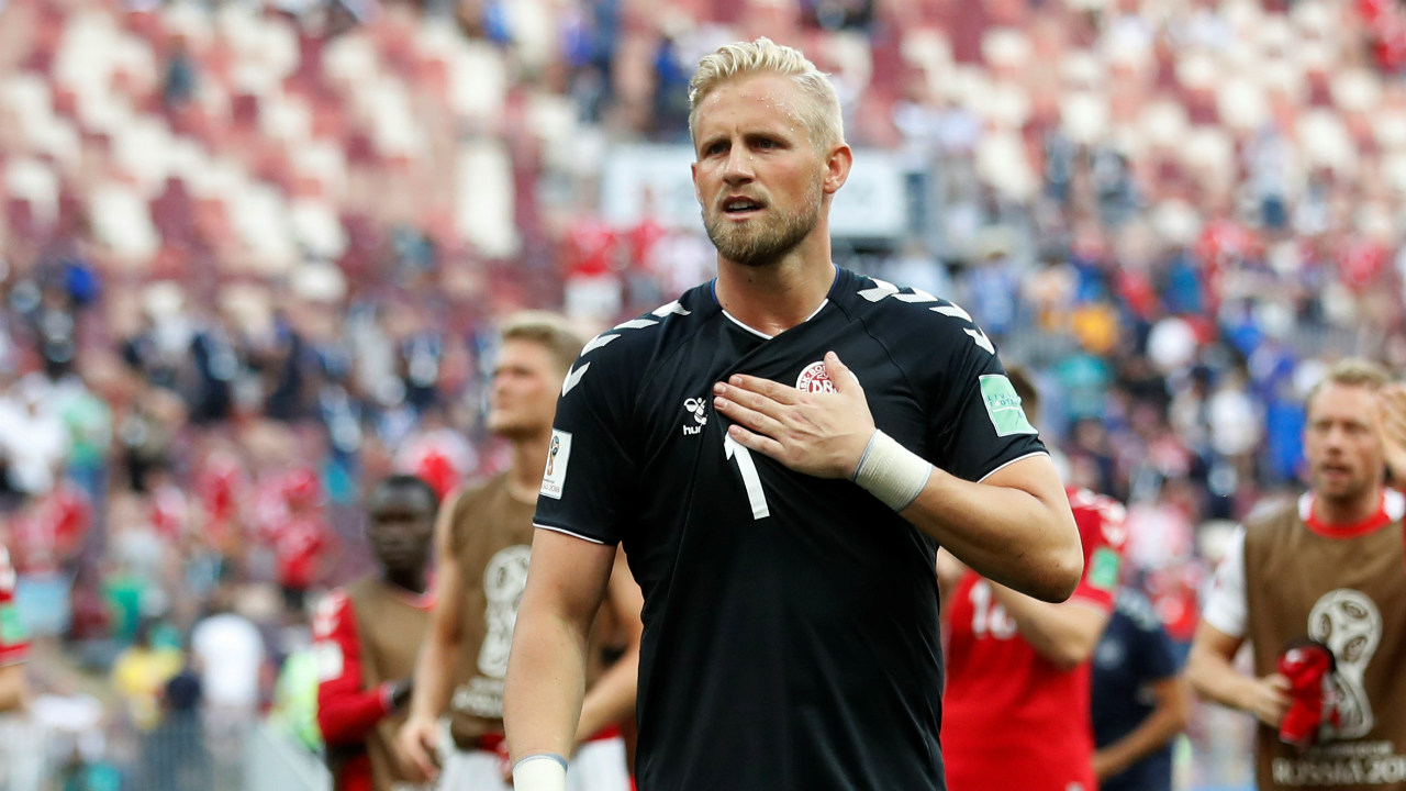 Kasper Schmeichel | The son of legendary Danish keeper Peter Schmeichel and also a Premier League winner with dark horse Leicester City in 2015-16, Schmeichel has earned himself a regular role in the goalposts for Denmark. Schmeichel has successfully kept two clean sheets for his side and the only goal he conceded in this tournament was Mile Jedinak's penalty for Australia. (Image: Reuters)