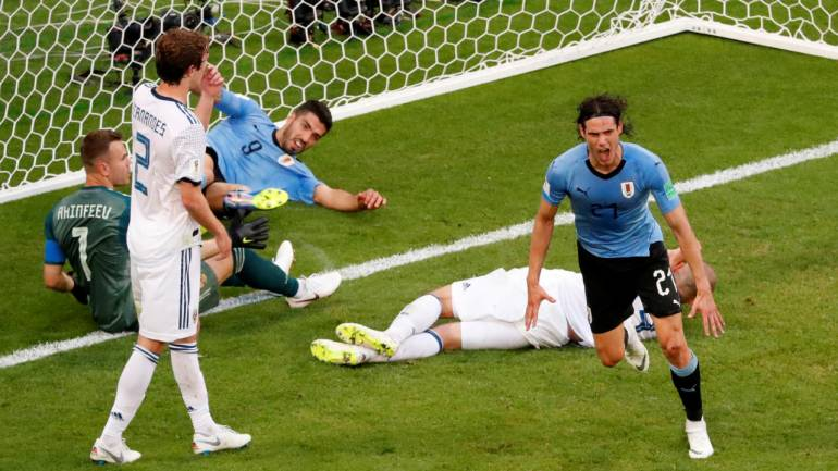 FIFA World Cup 2018: Uruguay decimate 10-man Russia 3-0 to top Group A