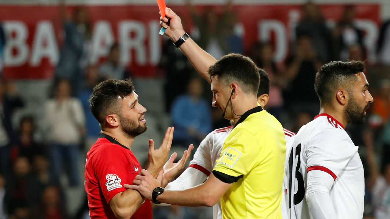 Fair Play points system (-5)| Five points will be deducted if the player receives a yellow card and then a straight red card in the same game.