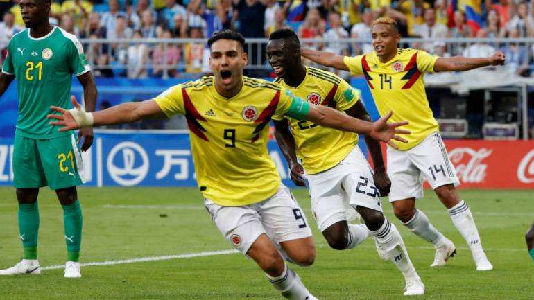 cd4376cb638 FIFA World Cup 2018  Colombia through as Senegal suffer yellow card ...