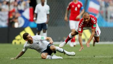 FIFA World Cup 2018: Dull Danes and flat French play out mutually beneficial 0-0 draw