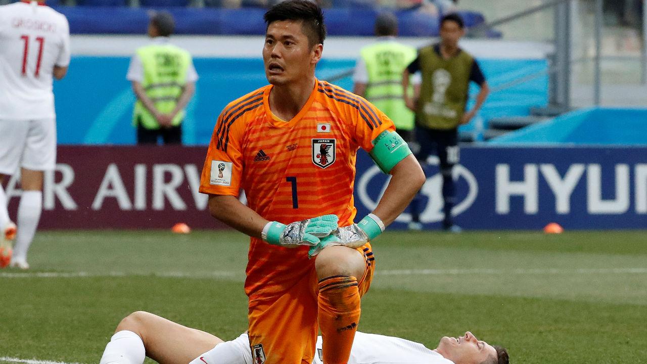 4. Eiji Kawashima (Japan) | No. of Saves - 14| Matches played - 4 | Save rate - 66.7%