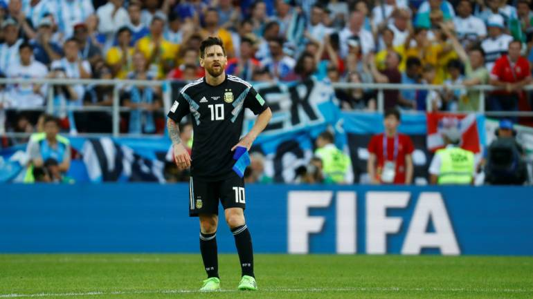 8c4352cd5 FIFA World Cup 2018  Iceland hold Argentina to 1-1 draw as Messi ...