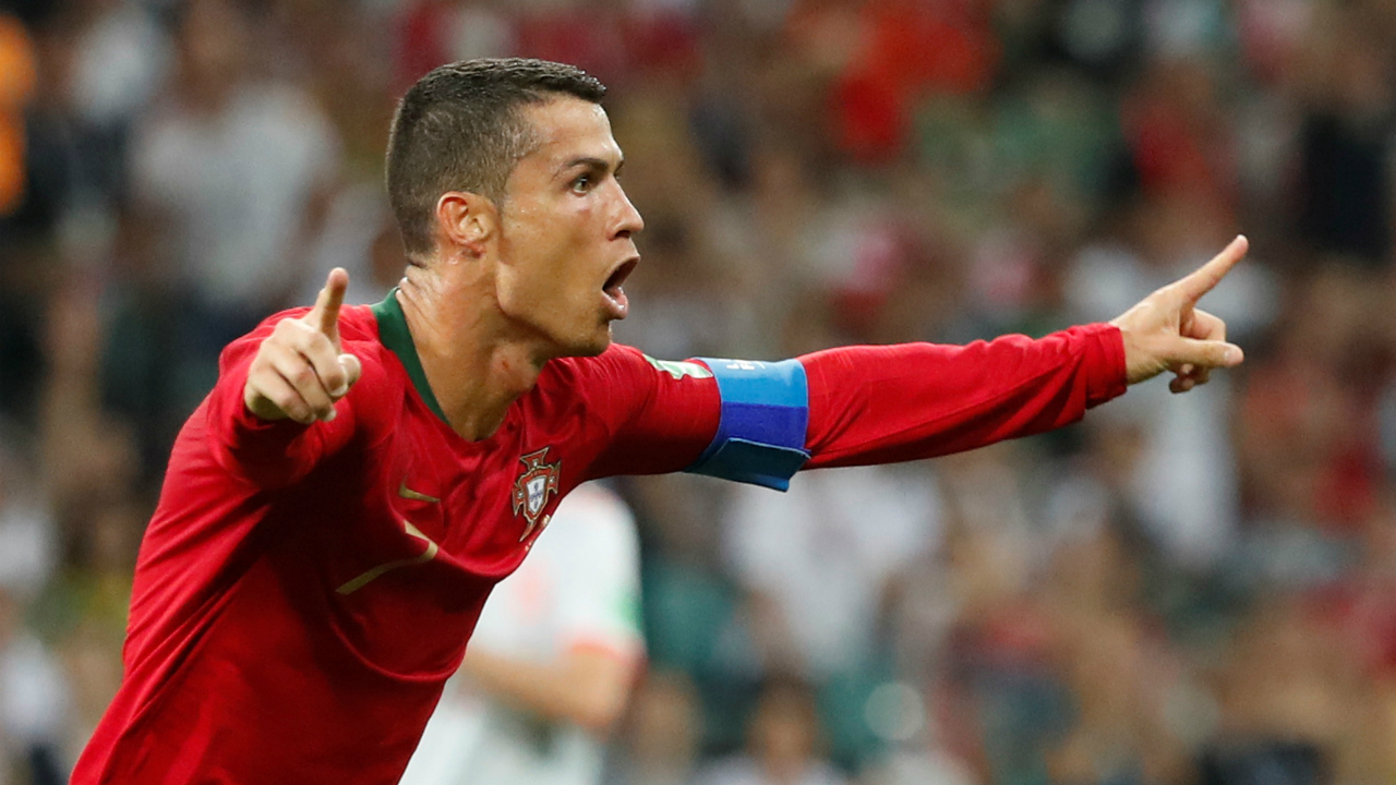 3. Cristiano Ronaldo (Portugal) - 4 goals<br /> Let's face it. Ronaldo is super-human. His goal from a free kick against Spain shows how he can calmly get the job done in a high pressure situation. But he is now out of the running for the prize, after Uruguay knocked Portugal out of the World Cup. (Image: Reuters)