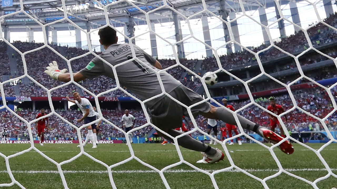 Panama once again conceded a penalty after Godoy was spotted wresting with Kane inside the area. Kane scored his fourth goal of the tournament with an identical strike to the first penalty lashing the ball into the top left corner
