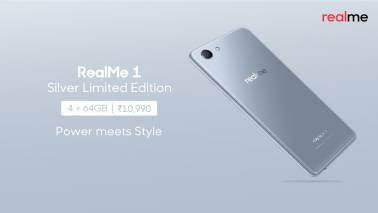 Realme 1 Silver limited edition smartphone goes on sale today; Here's how much it costs & where to buy