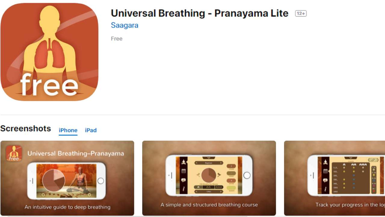Universal Breathing | Android & iOS | Breathing is an important part of yoga and this app helps you with exactly that. Through this app, you can experience guided meditation.