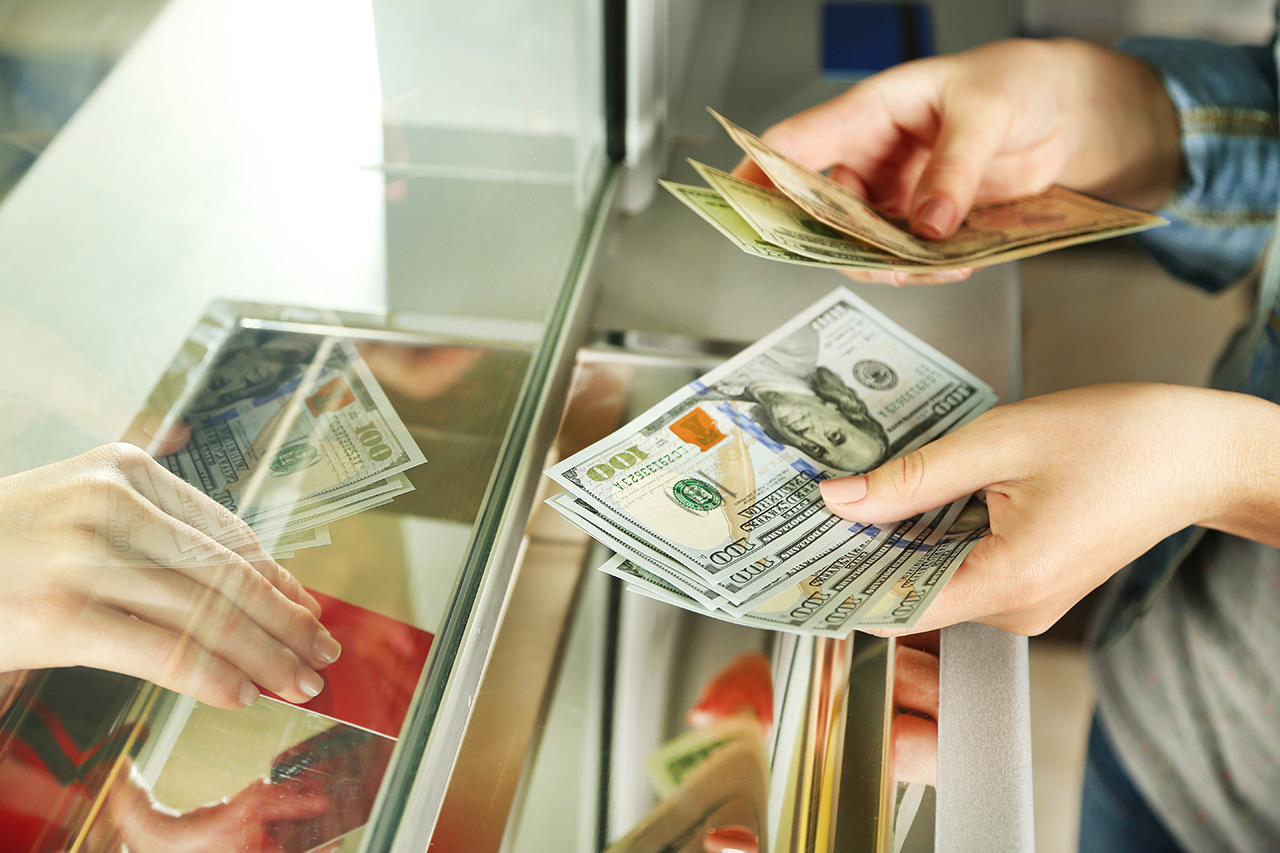 Traditional money exchange: If you're considering to head to a money exchange counter, make sure are aware of current currency-rates. It is advisable to call an executive in advance and bargain for a deal, or make the most of fluctuating rates. Ensure you carry a receipt of the amount exchanged. (Image: Shutterstock)