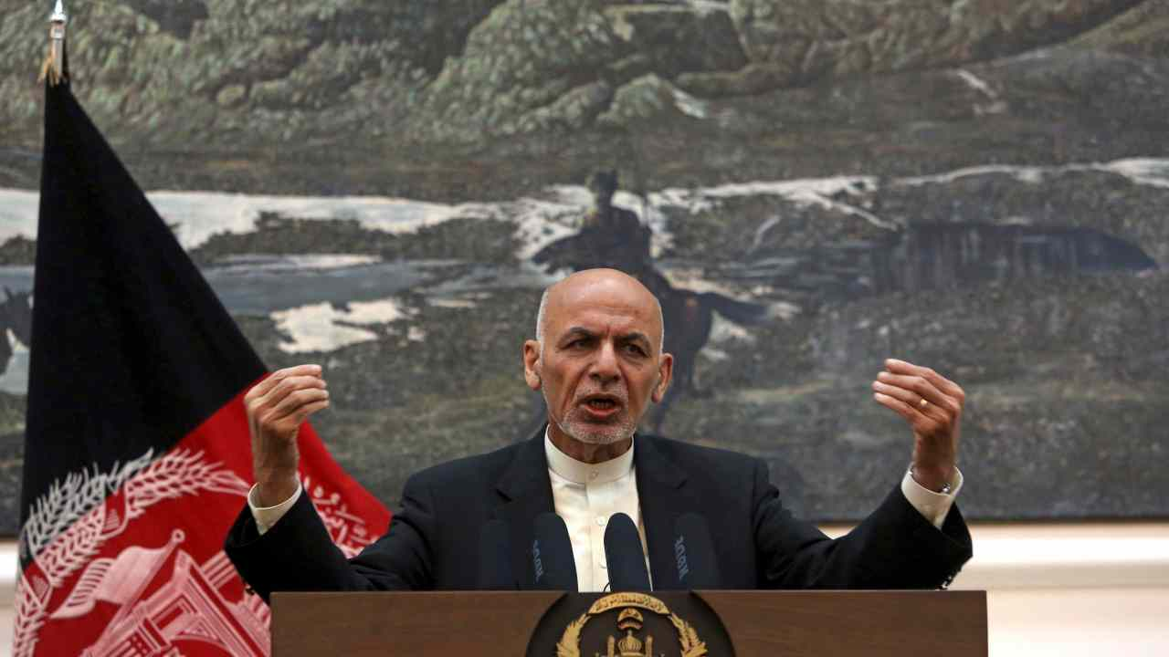 Afghan President Ashraf Ghani, speaks during, a press conference at the presidential palace in Kabul, Afghanistan. (AP/PTI)