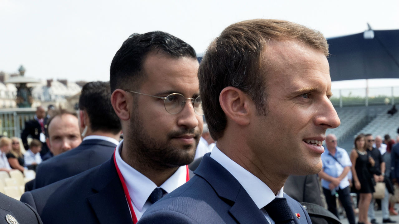 French President Emmanuel Macron walks ahead of his aide Alexandre Benalla at the end of the Bastille Day military parade in Paris, France. (Photo: Reuters)
