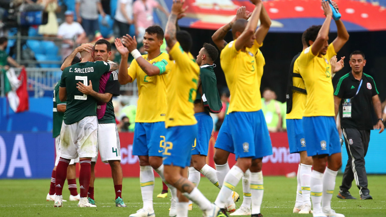 Mexico refused to give up on the game throughout the entirety of its duration. Nonetheless, Full-time arrived and Brazil celebrated their progress to the quarterfinals. For mexico though, a loss at the round of 16 is another in a series of familiar heartbreaks despite their best efforts. (Image: Reuters)