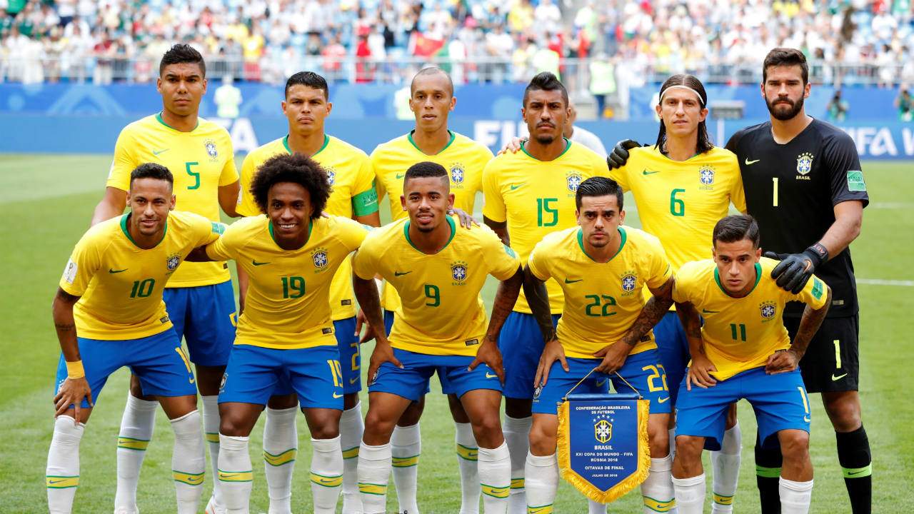 The Brazil starting XI. (Image: Reuters)