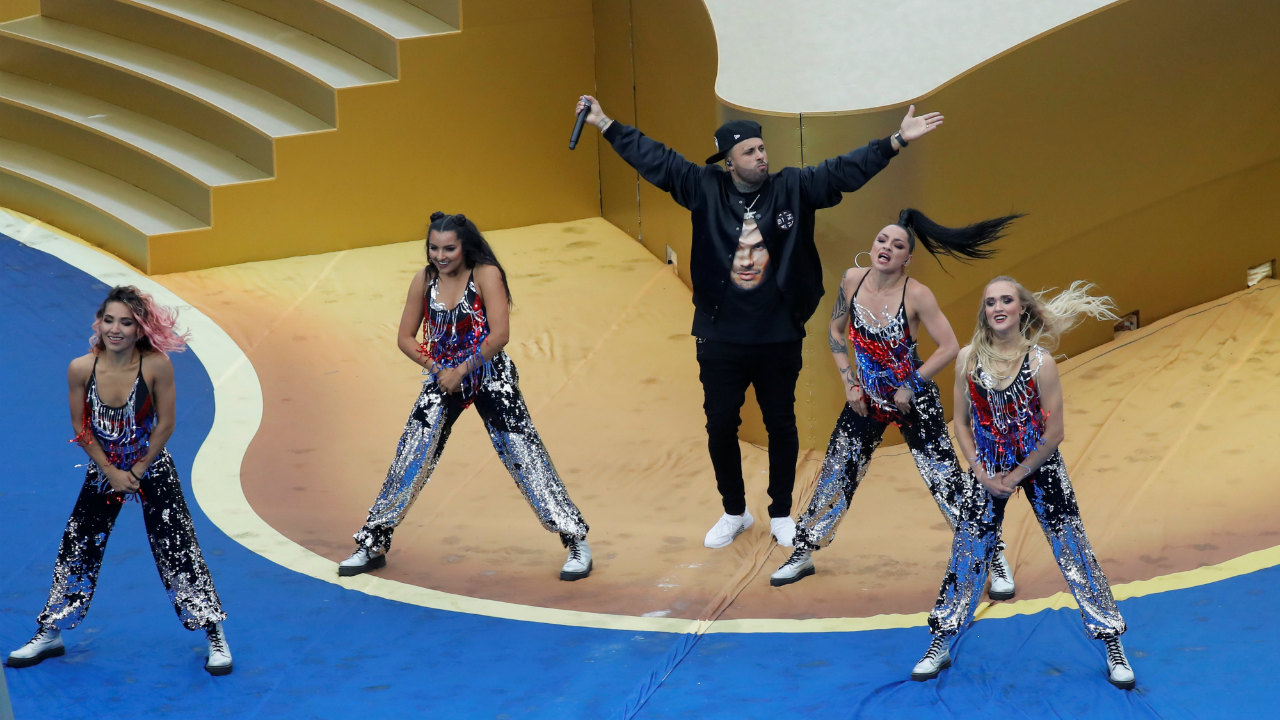 Pop sensation Nicky Jam performed one of his hit singles. (Image: Reuters)