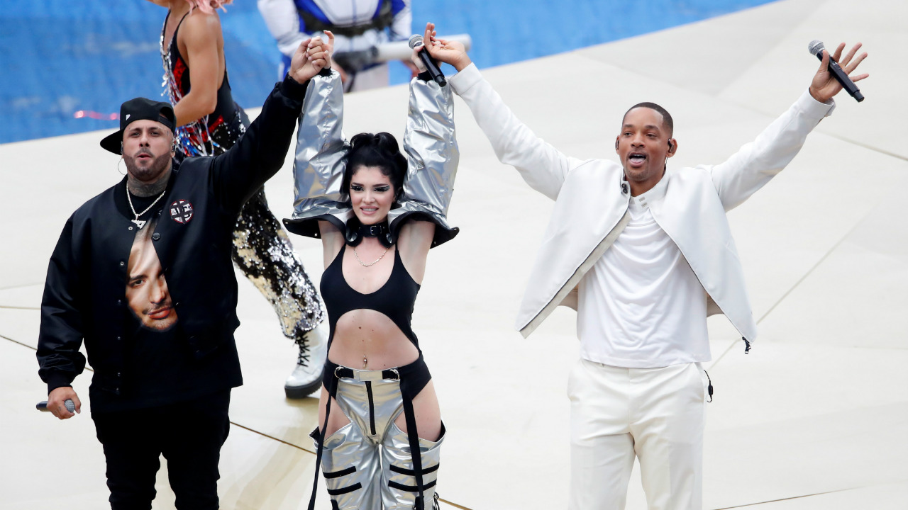 "The performance of ""Live It Up"" was rounded off by Will Smith, with a rap section of his own. (Image: Reuters)"