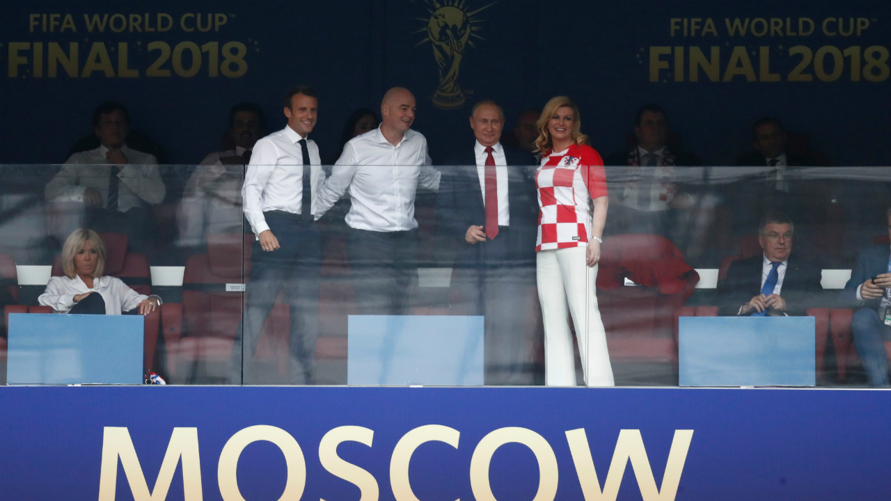 The ceremony was also attended by Russian President Vladimir Putin, France President Emmanuel Macron, Croatia President Kolinda Grabar-Kitarovic, FIFA President Gianni Infantino, as well as Croatia Football Federation President and football legend Davor Suker. (Image: Reuters)