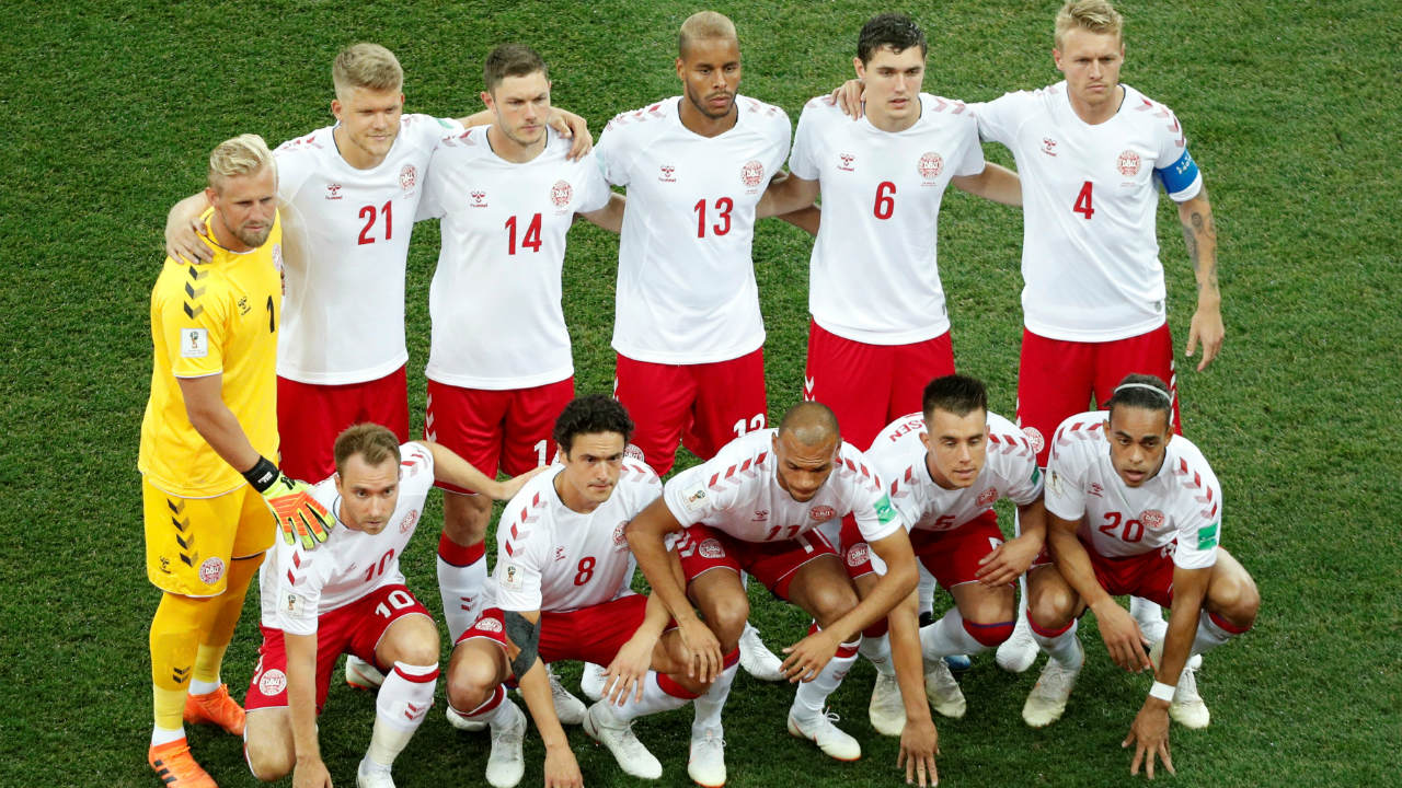The Denmark starting XI. (Image: Reuters)