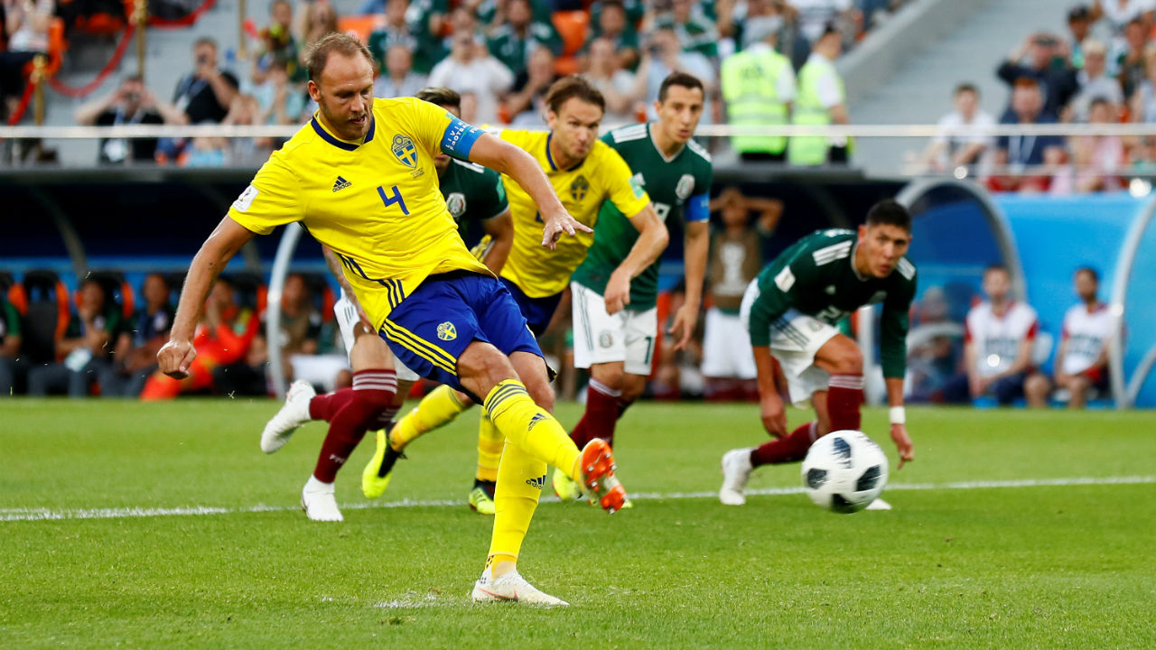 Andreas Granqvist | The Swedish captain has been his side's hero of the tournament so far. Twice he has stepped up and scored from the spot when his team needed it. He has played all three of his side's group games and gone about his defensive duties like his life depended upon it. 17 clearances, six blocks and four interceptions, as well as a success rate of 81.7% from 115 passes bear testimony to his heavy involvement in the matches. (Images: Reuters)
