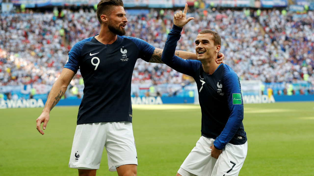"Griezmann's L sign | French attacker Griezmann is a huge fan of the video game Fortnite, and he was proud to show that with his goal celebration against Argentina. The ""Take the L"" (Take the loss) is popular among Fortnite players as a form of victory celebration. (Image: Reuters)"