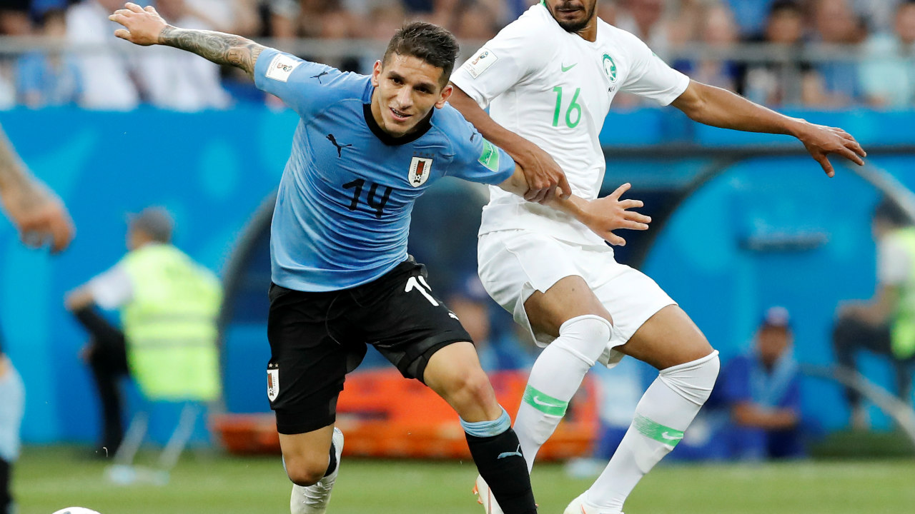 Mid-fielder - Lucas Torreira (URU) | Relentless, tenacious and tireless, Uruguay's Torreira is a machine in the middle of the park. In 5 games, he completed 125 passes out of 151, covered 36.7 kms, and bagged himself a goal. Defensively, he recovered 29 balls, made 9 clearances and 6 blocks, all without getting any booking or a card throughout the tournament. But don't just look at the numbers; his performance against Portugal was a master-class as he kept Ronaldo in his pocket. (Image: Reuters)