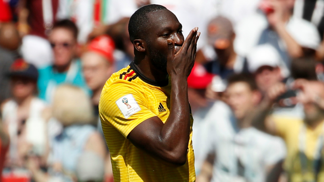 Lukaku is blowing kisses |After scoring his second goal against Panama, the Belgium striker faced the camera, lip-synced the word 'mama' and kissed his palm twice. Simple, but sweet. (Image: Reuters)