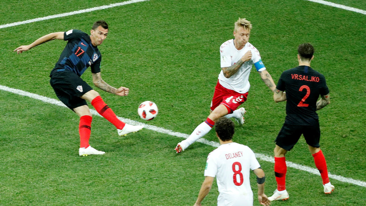 Mario Mandzukic equalised for Croatia less than two minutes later. The score was tied at 1-1 by the 4th minute. (Image: Reuters)