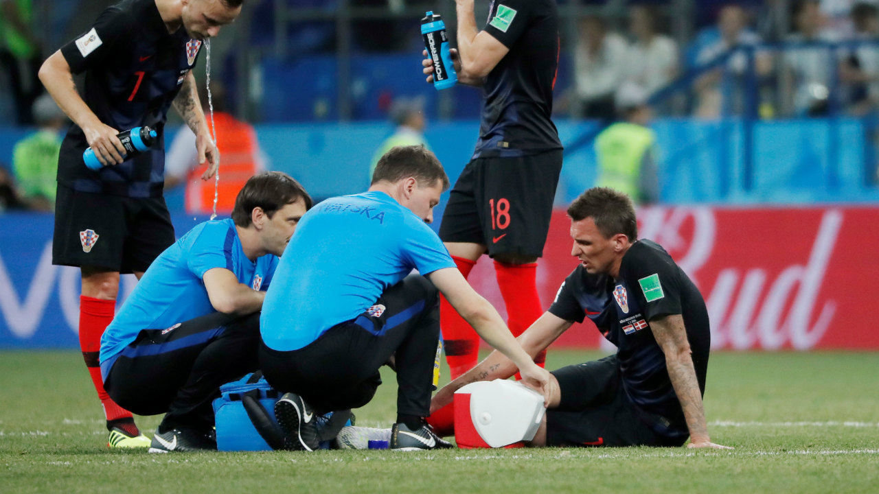 Mandzukic was the center of attention again as he went down with an injury around the 45th minute. There were genuine fears that he might not be able to continue, but he returned to the pitch and played on. (Image: Reuters)